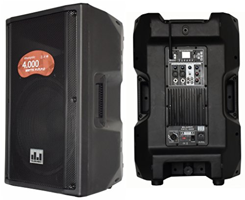 MUSYSIC MU-A4WIFI Professional 4000 Watt 2-Way Active Powered PA Speaker w/ WiFi (Way Speaker Amplified Bi Pa)