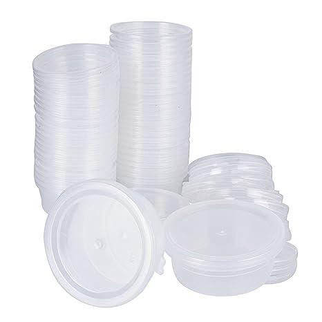 48pcs(6.8*5.5*2.8cm) Contenedor Plástico Slime Cajas Almacenamiento Arcilla Bolas de Espuma Limo Poliestireno Volumen 20g: Amazon.es: Hogar