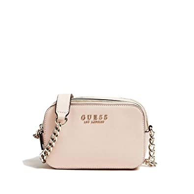 Guess Damen Robyn Crossbody Camera Umhängetasche, Schwarz, 7.5x14x20.5 Centimeters