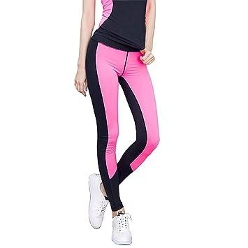 FENGSHUAI Pantalones de Yoga Negros para Mujer Pantalones de ...