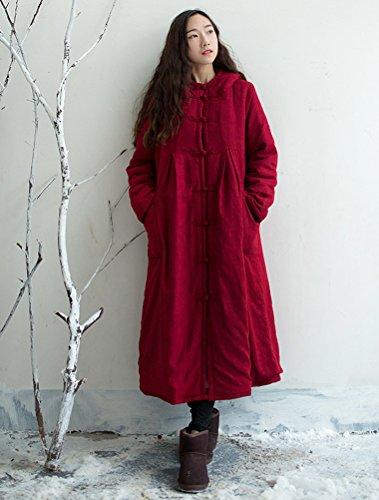 Invernale Con Caldo Grande Borgogna Cappuccio Vogstyle Piumino Donna Saqwxt1I