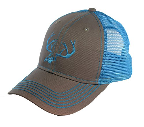 BT Outdoors Deer Skull Antlers Truckers Cap Blue Mesh Back Deer Skull Hat by BT Outdoors (Image #1)
