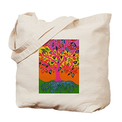 CafePress judía–árbol de la vida–Conocimiento–Jennifer Fayth T–Gamuza de bolsa de lona bolsa, bolsa de la compra Medium caqui