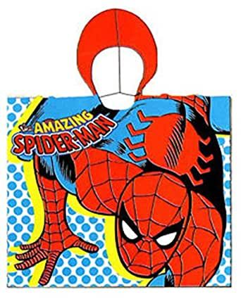 Albornoz niño Spiderman Piscina toalla playa rojo Talla única : Amazon.es: Ropa y accesorios