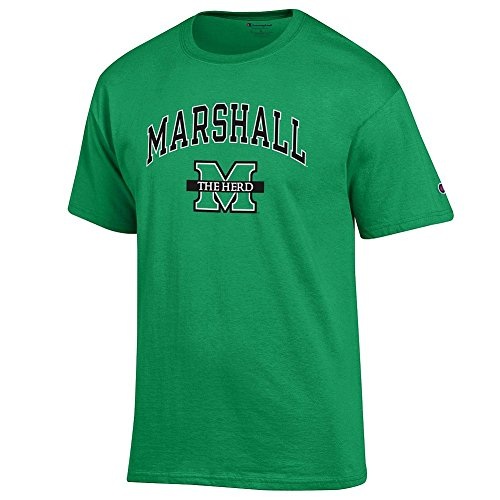 Elite Fan Shop Marshall Thundering Herd Tshirt Arch Green - L