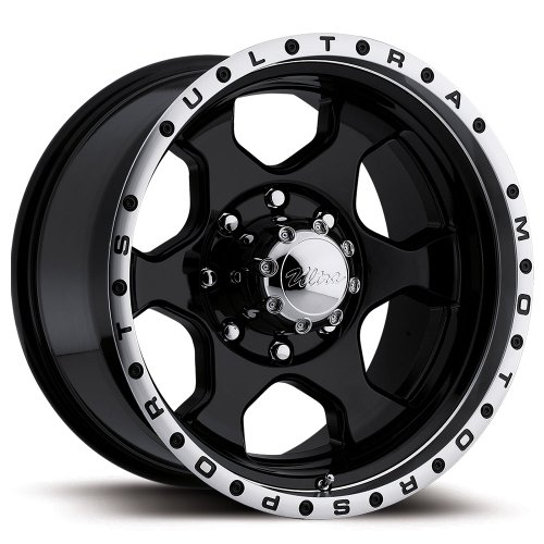 Ultra Rogue 16 Black Wheel / Rim 8×6.5 with a -6mm Offset and a 130 Hub Bore. Partnumber 175-6881B