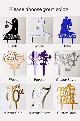 Handcuffs with names Wedding CakeTopper/Customized Mr And Mrs Wedding Cake Topper
