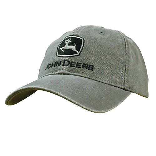 John Deere Washed Canvas & Embroidery Cap Charcoal