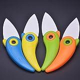 Mini Cute Bird Ceramic Fruit Knife, Pocket Ceramic Knife, Folding Knives, Kitchen Fruit Paring Knife With Colourful ABS Handle