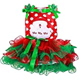 Present Avenue Christmas Tulle Netting Set | Pack of 2 in Emerald Green and Red 6 inch by 25 Yard Each