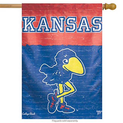 NCAA College Vault Kansas Jayhawks 27-by-37 inch Vertical Flag