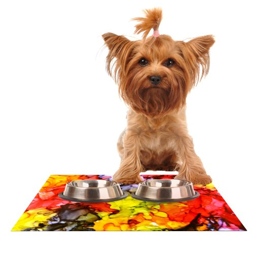 Kess InHouse Claire Day Southern Comfort  Feeding Mat for Pet Bowl, 18 by 13