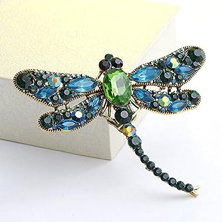 Tasche mit Stecknadel 9.1 * 7.5cm A elegant und bezaubernd Schal Broschen f/ür Damen Hut Gysad Broschen in Form eines Libellen-Schmucks
