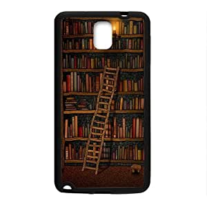 Light candle bookshelf with book Cell Phone Case for Samsung Galaxy Note3