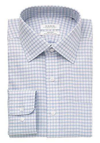 Enro Men's Logan Check, Light Blue, 185 x (Blue Logan Check)