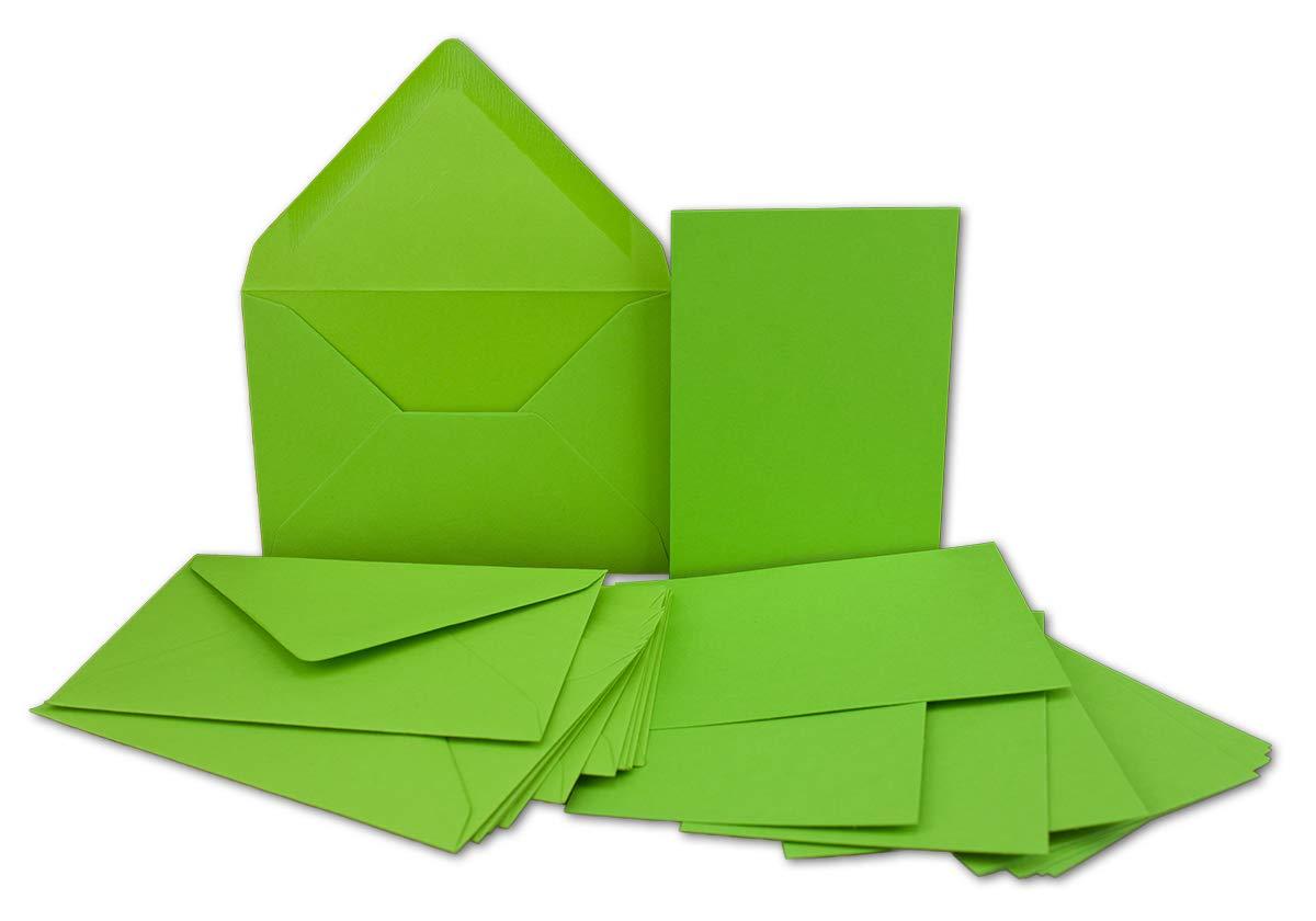200x Stück Karte-Umschlag-Set Karte-Umschlag-Set Karte-Umschlag-Set Einzel-Karten Din A7 10,5x7,3 cm 240 g m² Dunkelgrün mit Brief-Umschlägen C7 Nassklebung ideale Geschenkanhänger B07MJ9QGFC Grukarten Reichhaltiges Design 7e7359