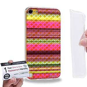 Case88 [Apple iPod Touch 5] Gel TPU Carcasa/Funda & Tarjeta de garantía - Art Carpet And Tapestry Raspberry 2015