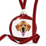 Christmas Decoration Geometric Animal art Golden Retriever Dog Ornament
