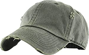 KBETHOS Vintage Washed Distressed Cotton Dad Hat Baseball Cap Adjustable Polo Style