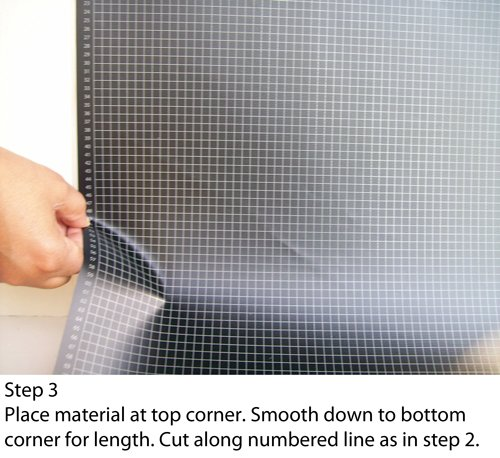 Blackout EZ - Total Sunlight Blocking Window Cover - Complete Light Block For: Living Room, Nursery, Home Theatre, TV Room, LARGE - Customizable To (45'' x 66'') Black In/White Out - Made in USA by Blackout EZ (Image #7)