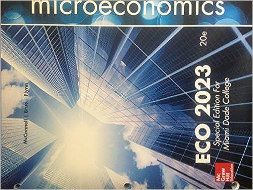 Microeconomics Principles, Problems, and Policies ECO 2023