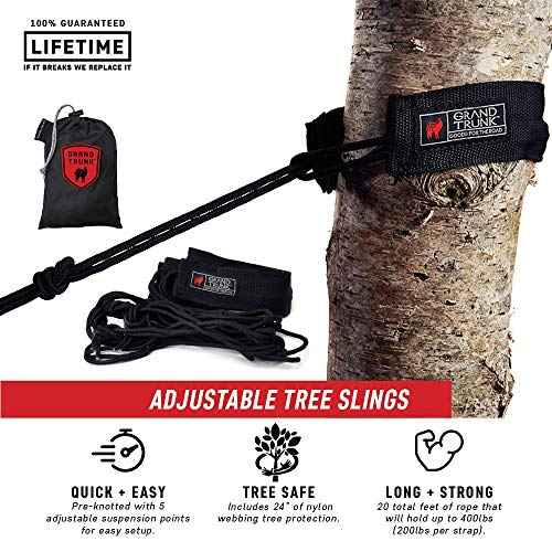 Grand Trunk Tree Slings Hanging Kit: Quick and Easy Hammock Hanging Kit - Compatible with All Grand Trunk -