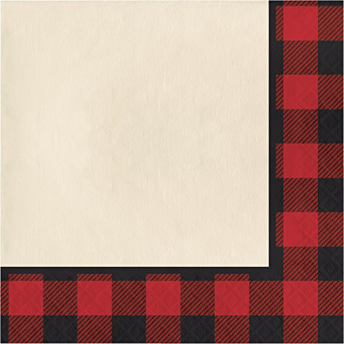 Buffalo Plaid Napkins, 48 ct