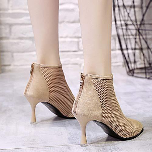 Amazon.com: Sharemen Women Sandals Summer Fashion Gladiator Zipper Roman Hollow Fashion Mesh High Heel Party Shoes: Clothing