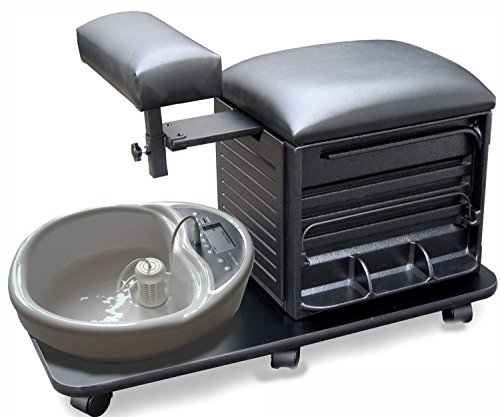 ProHairTools BLACK Pedicure Pal Complete Rolling Pedicure Station + Free Cape Co Apron ($20 value)