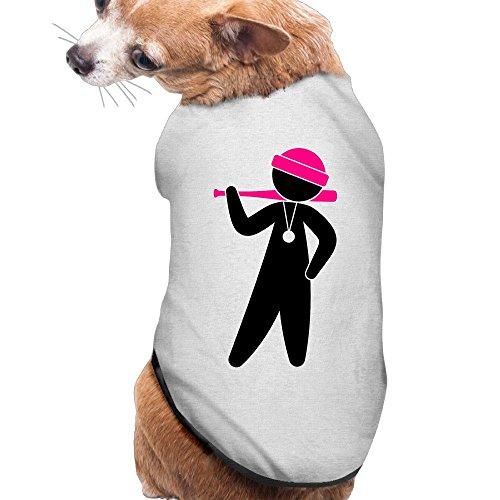 [YRROWN Gangster Special Design Dog Shirt] (Pat Benatar Wig)