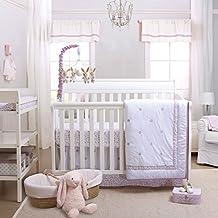 Petit Tresor Leila 3-Piece Crib Bedding Set, Purple
