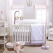 Leila Lavender Floral 3 Piece Baby Crib Bedding Set by Petit Tresor