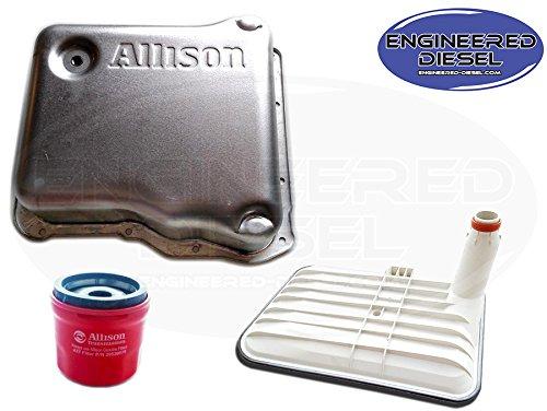 Genuine Allison 1000 Deep Pan Kit - Allison Deep Pan (29536522), Internal Deep Filter (29542824), AND External Spin On Filter (29539579) by Engineered Diesel
