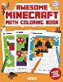 Awesome Minecraft Math Coloring Book: Pixelated Art For Kids (Volume 1)