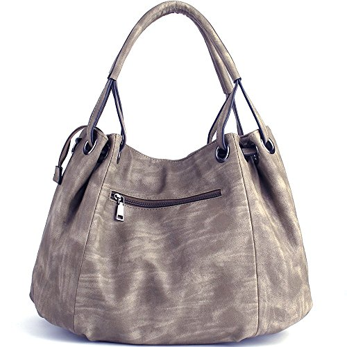 Hobo Capacity JOYSON 40cm H Coffee PU Shoulder Handbags Ladies 30cm W Bags Leather PU Leather Handbags 19cm Women Large Light Bags L Crossbody 6P6qFC