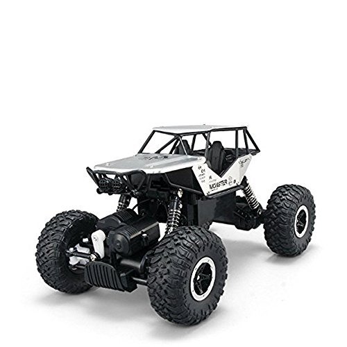 AHAHOO RC Off-Road Vehicle 1:18 scale Remote Control Cars 2.4Ghz 4WD High Speed Monster Truck Electric Rock Climber Desert Buggy (Silver)