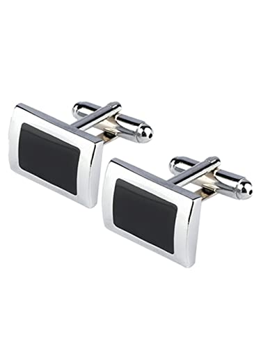 a9b7ad01b1ec Image Unavailable. Image not available for. Color: JTGJ 2PCS New Black  Rectangle Cufflinks Mens Shirt Cuff Button Christmas Gifts for Men Cufflink