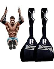 RIMSports Ab Straps for Pull Up Bar for Ab Workouts Premium Pull Up Straps & Hanging Ab Straps for Core Workouts Hanging Straps & Ab Hancer for Leg Raises, Knee Ups & Ab Workouts