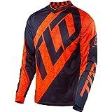 Troy Lee Designs GP Air Quest Men's Off-Road Motorcycle Jerseys - Flo Orange/Navy / Medium