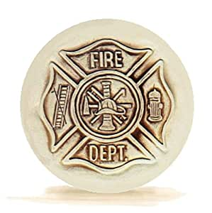 Set of 4 super absorbent stoneware drink coasters fire department kitchen dining - Drink coasters absorbent ...