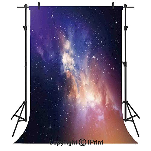 Space Photography Backdrops,Stars in Sky Supernova Comet Constellation Light Years Meteor Planetary Image,Birthday Party Seamless Photo Studio Booth Background Banner 6x9ft,Dark Blue Purple