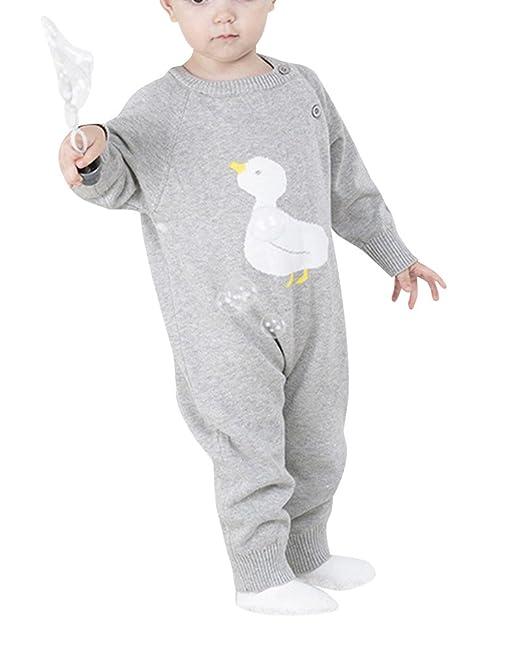 Kasen Bebé Niños Niñas Pelele Patrón De Pato Conjunto De Manga Larga Romper: Amazon.es: Ropa y accesorios