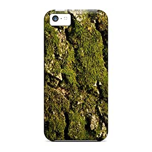 Protective Tpu Case With Fashion Design For Iphone 5c (mossy Tree Bark Nature)