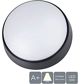 ASD Round Exterior Garden Lamp Ceiling Wall Pack Bulkhead Light Fitting IP65 8W
