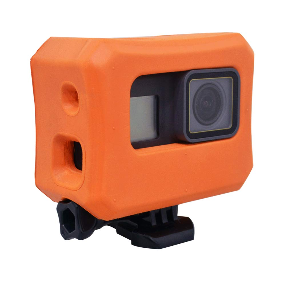 Floaty for GoPro Hero 6 Hero 5 Cameras, Orange Floating Case for GoPro Floater Accessories Use for Water Sports Swimming Diving