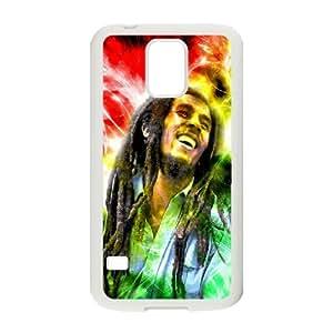 C-EUR Customized Print Bob Marley Hard Skin Case Compatible For Samsung Galaxy S5 I9600