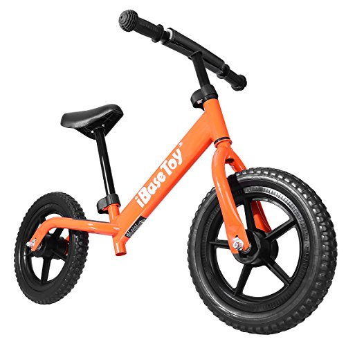 IBASETOY Balance Bike for Kids - Ages 2 to 6 Years, Adjustable Seat and Handlebars, Orange by IBASETOY