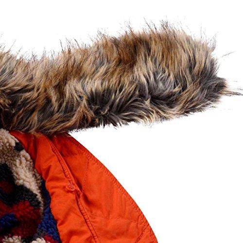 Maniche Tute Donna Cotone Tratto Damen Lungo Giacche In Lunghe Mantel Cappuccio E Unita A Tinta Sublevel Winterparka Wintermantel Inverno Con 64vq8wX