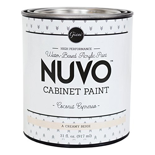 Nuvo Cabinet Paint Quart, 31 fl. oz, Coconut Espresso (Best Paint Color For Espresso Cabinets)