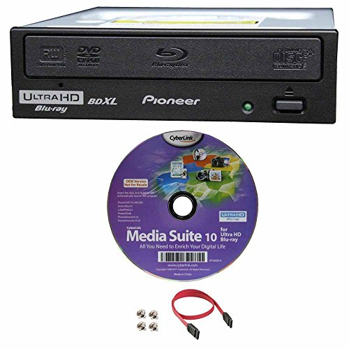 Pioneer Pro Dvd Player - Pioneer BDR-211UBK 16x Internal Ultra HD 4K Blu-ray BDXL Burner, Bundle with Cyberlink Software and Cable